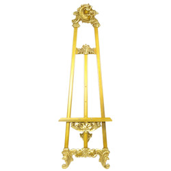 Casa Padrino Baroque Sign Stand in Gold - Hotel, Cafe, Restaurant, Store Facility, Shop Facility