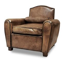 Casa Padrino Luxus Buffalo Echtleder Sessel Hellbraun - Lounge Sessel - Vintage