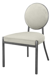 Casa Padrino Dining Chair Matt Silver / Light Gray 57.5 x 60 x H. 91 cm - Luxury Dining Room Furniture