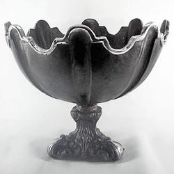 Casa Padrino Baroque Bowl Aluminum Black / Silver H. 30, diameter 36 cm - antique style