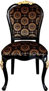 Pompöös by Casa Padrino Luxus Barock Esszimmer Stuhl Schwarz / Gold mit Krone - Pompööser Barock Stuhl designed by Harald Glööckler – Bild 1