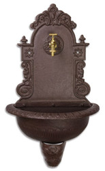 Casa Padrino Art Nouveau Wall Fountain Brown 44.2 x 24.1 x H. 76.2 cm - Garden Furniture and Decoration