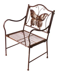 Casa Padrino Art Nouveau Kids Garden Chair Brown 43 x 39 x H. 67 cm - Garden Furniture