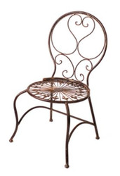 Casa Padrino Art Nouveau Kids Garden Chair Brown 34 x 33 x H. 66 cm - Garden Furniture