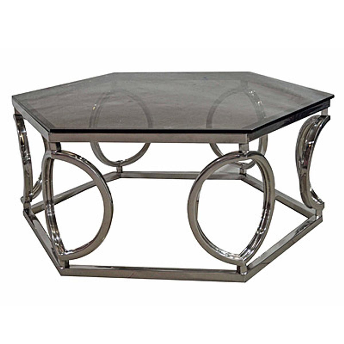 - Casa Padrino Art Deco Luxury Coffee Table With Glass 99 X 99 X H