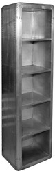Casa Padrino luxury designer aluminum bookcase - Art Deco vintage aviator furniture