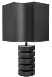 Casa Padrino luxury table lamp matt black Ø 55 x H. 78 cm - Luxury Quality