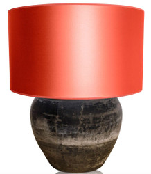 Casa Padrino Luxury Terracotta Table Lamp Gray / Orange Ø 60 x H. 72 cm - Luxury Furniture