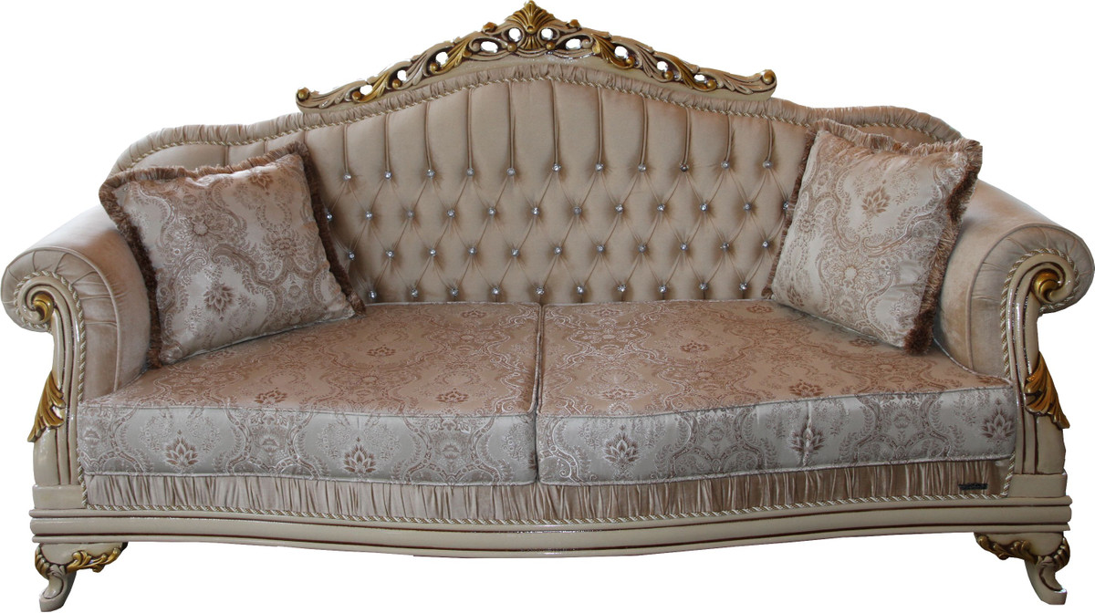 Excellent Casa Padrino Luxury Baroque Sofa Black White Gold 210 Cm Bench Furniture Luxury Hotel Collection Gmtry Best Dining Table And Chair Ideas Images Gmtryco