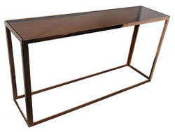 Casa Padrino luxury console table rose gold / black 150 x 40 x H. 78 cm - Living Room Furniture