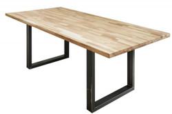 Casa Padrino Designer Solid Wood Dining Table Natural - Oak - 160 x 90 x H.75 cm - Solid oak wood