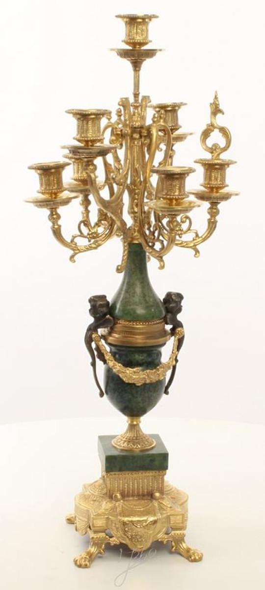 Casa Padrino Barock Kerzenständer Set Gold / Grün 22 x 26 x H. 62,4 cm - Barockstil Möbel 3