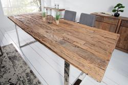 Casa Padrino Designer Solid Wood Dining Table Natural - Teak - 200 x 100 x H.75 cm - Solid teak wood
