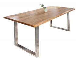 Casa Padrino Designer Solid Wood Dining Table Natural - Oak - 180 x 100 x H.80 cm - Solid oak wood