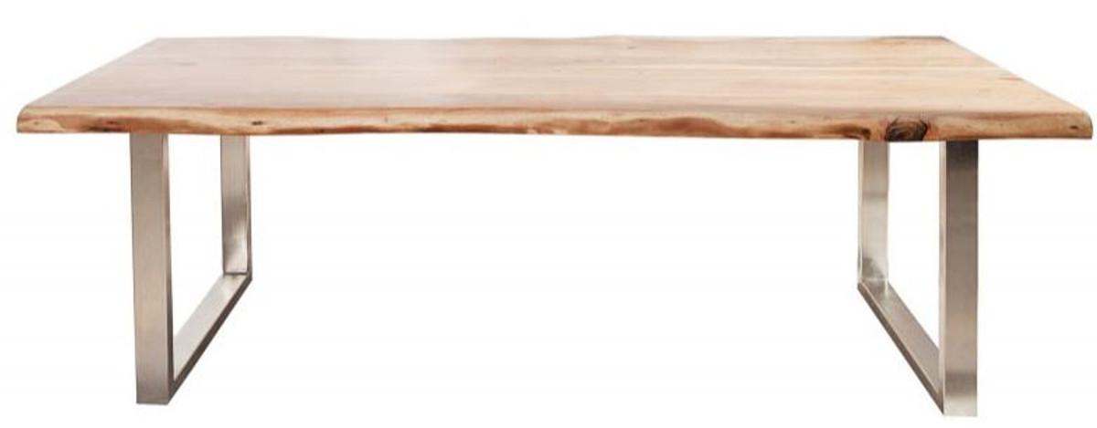 Casa Padrino Designer Massivholz Esstisch Natur - Akazie - 200 x 100 x H.80 cm - Aus massivem Akazienholz 1