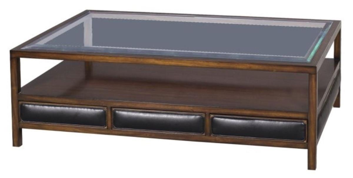 casa padrino luxus couchtisch braun schwarz 120 x 80 x h 41 cm mahagoni wohnzimmertisch mit. Black Bedroom Furniture Sets. Home Design Ideas