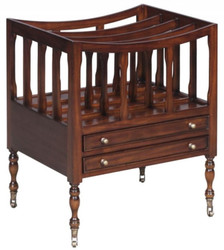 Casa Padrino Luxury Mahogany Magazine Rack Brown 48 x 38 x H. 55 cm - Luxury Collection