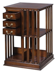 Casa Padrino Luxury Mahogany Bookcase Brown 49 x 49 x H. 80 cm - Luxury Collection