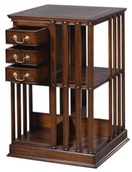Casa Padrino Luxury Mahogany Bookcase Brown / Green 49 x 49 x H. 80 cm - Luxury Collection