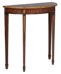 Casa Padrino Art Nouveau Mahogany Console Brown / Gold 81 x 35 x H. 83 cm - Luxury Art Nouveau Console Table