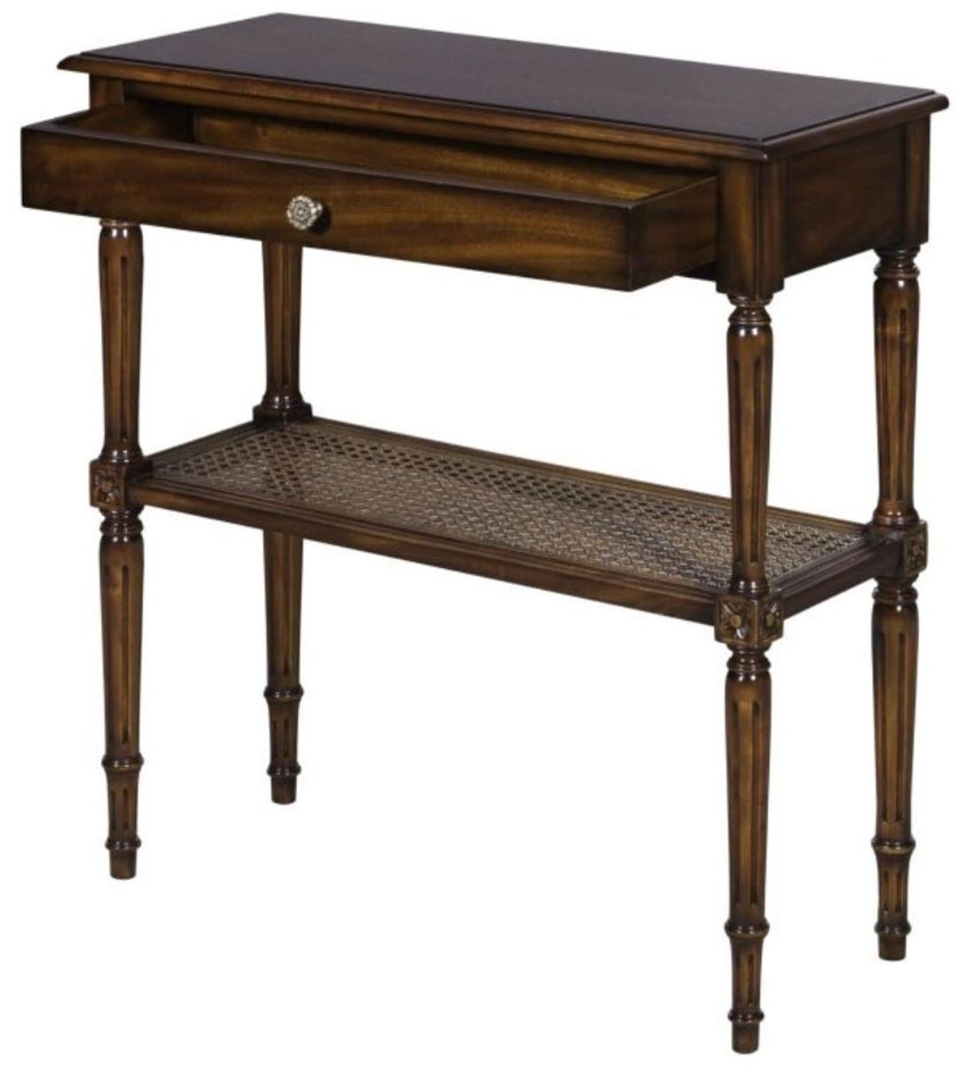 Le Style Art Avec De 71 Nouveau Luxe Table 28 Acajou Foncé Français Tiroir Dans X Console Casa H76 Cm Padrino Brun En K5l3u1JcTF