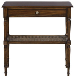 Casa Padrino Luxury Art Nouveau Mahogany Console Table with Drawer Dark Brown 71 x 28 x H. 76 cm - Console in the French Art Nouveau Style