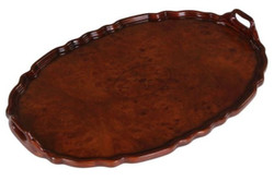 Casa Padrino Mahogany Tray Brown 66.5 x 44.5 x H. 6.2 cm - Luxury Dining Accessories