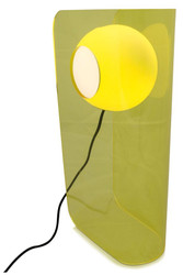 Casa Padrino luxury designer table lamp yellow 28.5 x 17 x H. 59 cm - Modern Perspex Lamp