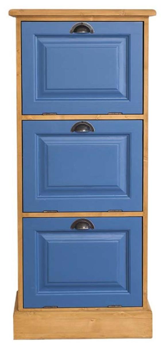 Casa Padrino Landhausstil Kommode Naturfarben Blau 55 X 40 X H