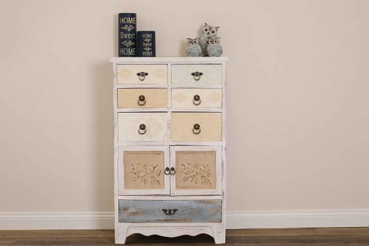 Casa Padrino Landhausstil Shabby Chic Kommode Antik Weiss