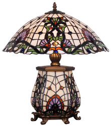 Casa Padrino Tiffany Table Lamp Bronze / Multicolor 46 x 43.5 x H. 55.5 cm - Hotel & Restaurant Table Light