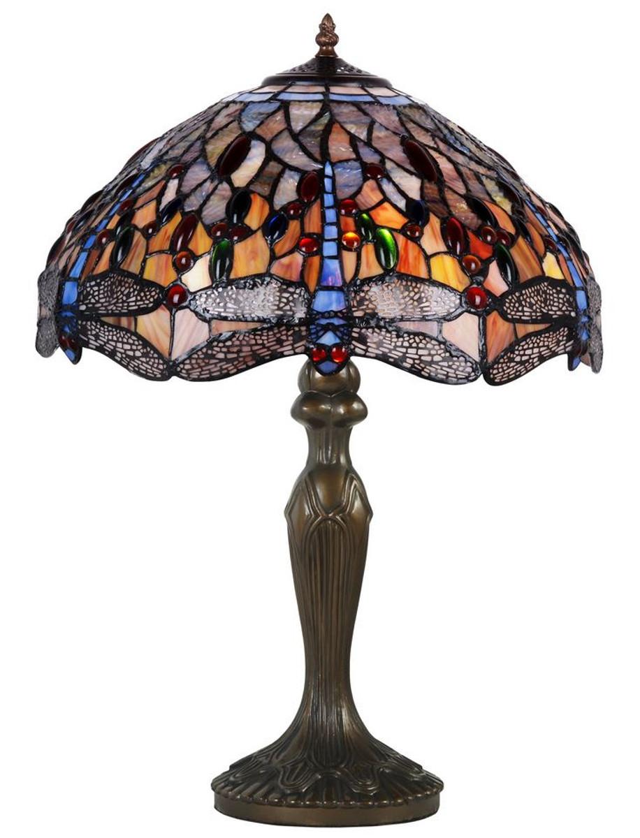 casa padrino tiffany tischleuchte bronze mehrfarbig 42 x h 62 cm luxus kollektion. Black Bedroom Furniture Sets. Home Design Ideas