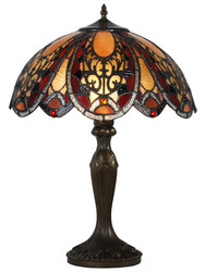Casa Padrino Tiffany Table Lamp Bronze / Multicolored Ø 40,5 x H. 59 cm - Luxury Light