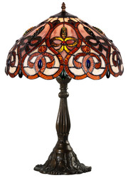 Casa Padrino Tiffany Table Lamp Multicolored Ø 42 x H. 60 cm - Luxury Living Room Table Lamp