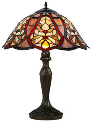Casa Padrino Tiffany Table Lamp / Table Light Multicolor Ø 40 x H. 59 cm - Luxury Living Room Lamp