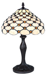 Casa Padrino Tiffany Table Lamp Multicolored Ø 30 x H. 47.5 cm - Living Room Furniture