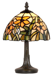 Casa Padrino Tiffany table lamp multicolored Ø 20.5 x H. 33 cm - Luxury Stool Lamp