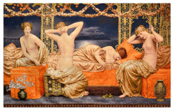 Casa Padrino Art Deco Tapestry Ladies Multicolor 220 x 130 cm - Art Deco Furniture
