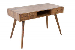 Casa Padrino designer console with drawers solid wood natural 117 x 60 x H.73 cm - Hotel furniture