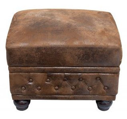 Chesterfield stool brown antique look from Casa Padrino