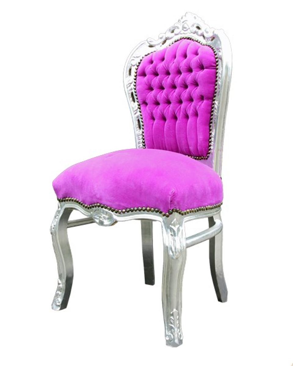 barock esszimmer stuhl pink silber st hle barock st hle. Black Bedroom Furniture Sets. Home Design Ideas