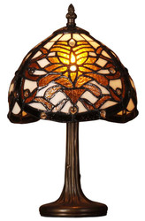 Casa Padrino Tiffany stool lamp multicolored Ø 20.5 x H. 33 cm - Handmade Luxury Table Lamp