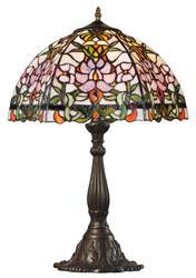Casa Padrino Tiffany Table Lamp / Table Light Multicolor 42.5 x 37 x H. 61 cm - Luxury Lamp