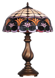 Casa Padrino Luxury Tiffany Table Lamp Bronze / Multicolor Ø 41 x H. 61 cm - Hotel & Restaurant Decoration