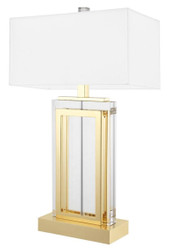 Casa Padrino Luxury Table Lamp Gold / White 38 x H. 67.5 cm - Hotel & Restaurant Furniture