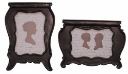 Casa Padrino Baroque Style Picture Frame Set of 2 Antique Black - Baroque Decoration