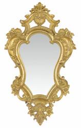 Casa Padrino Barock Spiegel Gold 28,2 x H. 48,4 cm - Barockstil Wandspiegel
