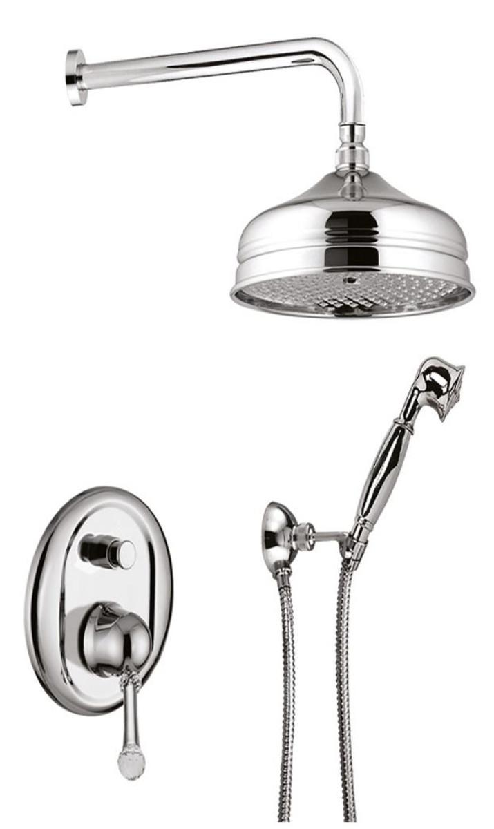 Luxus badezimmer duschgarnitur brauseset mit swarovski - Swarovski badezimmer ...