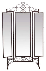 Casa Padrino Art Nouveau Standing Mirror Brown 129.5 x 40 x H. 204 cm - Baroque & Art Nouveau Furniture