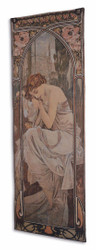 Casa Padrino Art Nouveau Tapestry Multicolor 72 x H. 195 cm - Art Nouveau Wall Decor Rug